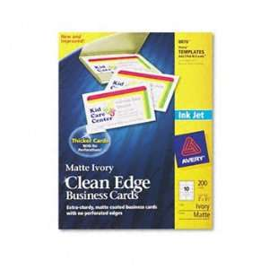 New   Avery Clean Edge Inkjet Business Card   628597