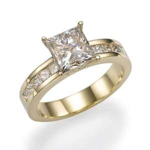 Holyland 2.7 CT VVS REAL DIAMOND ACCENTED PROMISE RING 18K