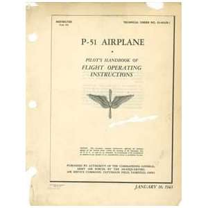 P 51 Mustang Pilots Handbook of Flight Operating