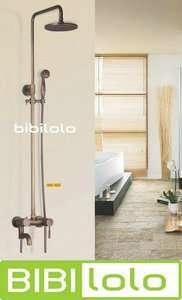 Antique Brass Wall Mounted Rain Shower Faucet Set L5037