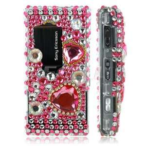 PINK DIAMOND CRYSTAL BLING CASE FOR SONY ERICSSON SATIO Electronics
