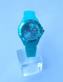 Jelly Watch Silicone Rubber Quartz Wrist Watch Unisex With Calendar