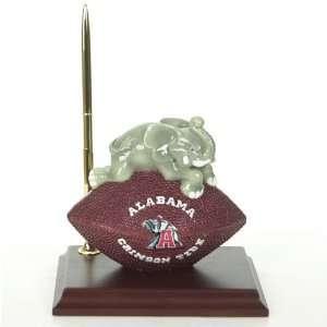 Alabama Crimson Tide Mascot Football Clock/Pen  Sports