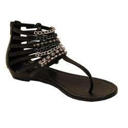 Oceanstar Womens Black Gladiator Sandals