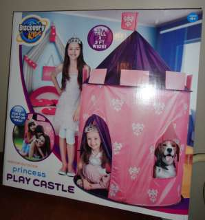 DISCOVERY KIDS INDOOR/ OUTDOOR PRINCESS PLAY CASTLE DOME TENT AGE 4