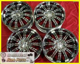 09 10 11 GMC SIERRA YUKON 22 CHROME TAKE OFF WHEELS FACTORY OEM RIMS