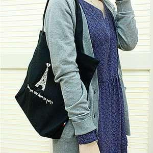 Eiffel Tower Canvas Handbag Tote bag shoulder bag