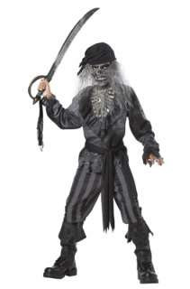 Scary Ghost Ship Pirate Child Halloween Costume