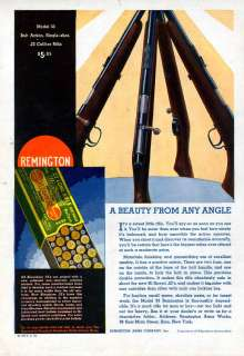 1932 REMINGTON MODEL 33 BOLT .22 RIFLE GUN HUNT AMMO AD
