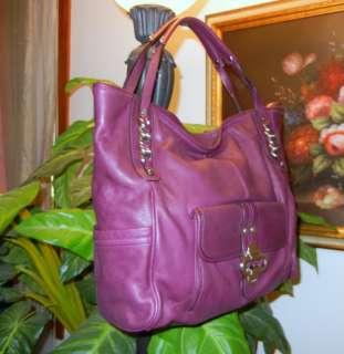 Makowsky Large Soft Purple Leather Handbag Tote