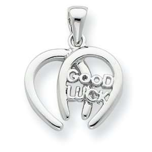 Silver Double Horseshoe Good Luck Charm Vishal Jewelry Jewelry