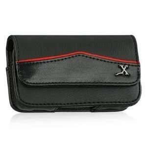 Motorola Backflip Premium Genuine Horizontal Black Leather