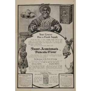 com 1910 Ad Aunt Jemima Pancake Doll Flour Black Americana   Original