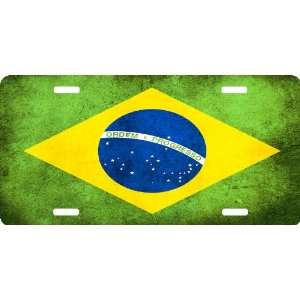 Rikki KnightTM Brazil Flag Cool Novelty License Plate