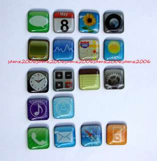 Magnets Apple iPhone 4s 3g Fridge App Magnets iPod iPad 2 Apps Icon