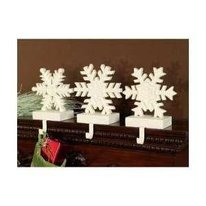 Peace Stone Snowflake Christmas Mantle Stocking Holder Set 10