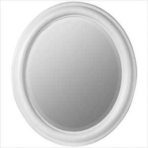 Cooper Classics Addison Oval Mirror in Chesapeake White