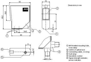 NEW SICK PHOTO OPTICAL REFLEX SENSOR SWITCH, WL12 N1221