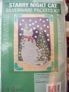 Craftways Starry Night Cat Silverware Pockets Kit