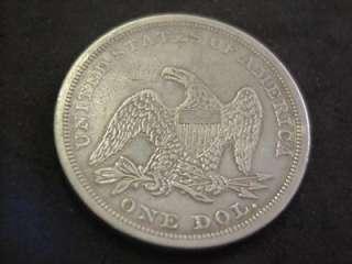 1864 SEATED LIBERTY DOLLAR HIGH GRADE EXTRA FINE XF +++