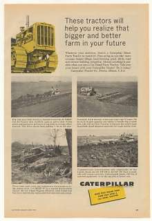 1959 Caterpillar D4 D6 D7 D8 Farm Tractors Print Ad