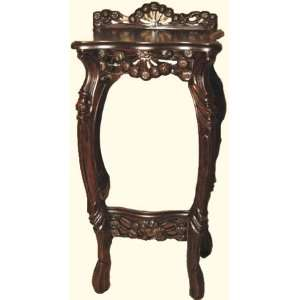 hand carved solid wood French style telephone table