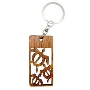 Hawaiian Key Chain Laser Cut Wood Keychain Honu  Kitchen