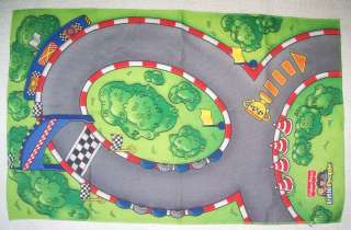 Childs Fisher Price little People Race Car Pretend Play Floor Mat Toy