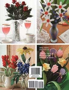 10~BEAUTIFUL FLOWERS~Plastic Canvas BOOK