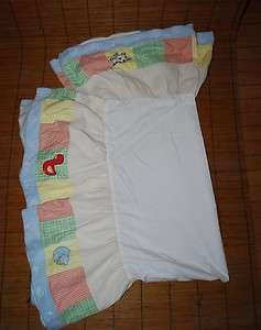 Kidsline Barnyard Baby Nursery Crib Skirt Dust Ruffle Bedding Farm