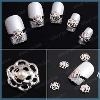 Rhinestones Flower Nail Art Glitters Slices DIY Decorations NEW