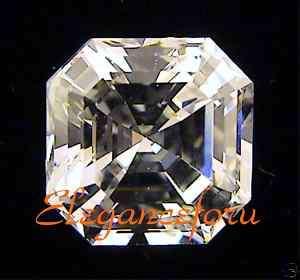CT ASSCHER CUT RUSSIAN LAB DIAMOND SIM 6.5MM X 6.5MM