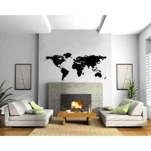 World Map Wall Mural Vinyl Art Sticker M017