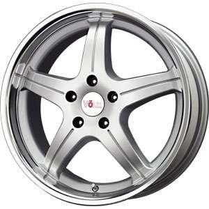 New 15X7 5 120 Mg Lz Silver Machined Lip Wheels/Rims