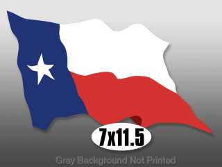 Large WAVING Texas Flag Sticker   decal stickers flags