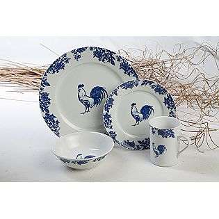 Blue Rooster Toile 16pc dinner set  Lynns For the Home Dishes, Linens