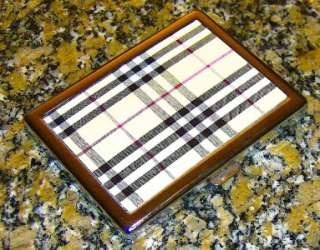 ELEGANT CLASSY PLAID METAL CIGARETTE CASE my best model