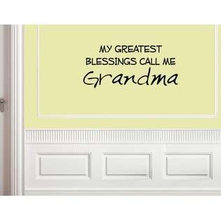 My greatest blessings call me Grandma Vinyl wall quotes and sayings