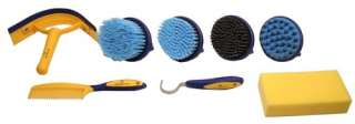 Best Rated Derby Comfort Premium Horse Grooming Kit 9 Items Set Blue
