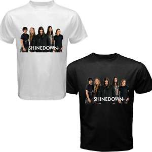Tee Shinedown Band Black White Mens T shirt Size S 3XL