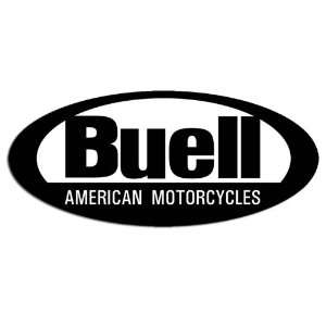 B/W Buell American Motorcycles Oval Sticker Everything