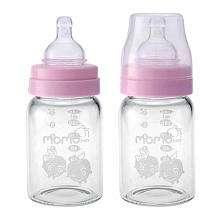 Grade Borosilicate Glass Bottles   Pink   Momo Baby   Babies R Us