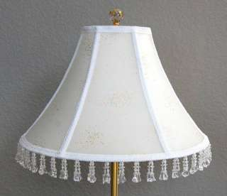 Stunning Off White Hand Stitched Table Lamp shade