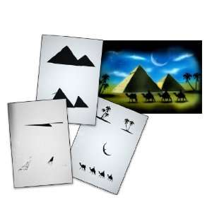 Step by Step Airbrush Stencil Template AS 054 L ca. 9,05
