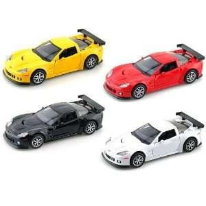 Set of 4   Chevy Corvette C6 R 1/36 Toys & Games