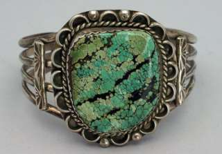 Vintage Native American Navajo UNIQUE Turquoise Sterling Silver