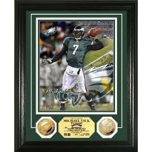 NFL Philadelphia Eagles Michael Vick 24KT Gold Coin Photo