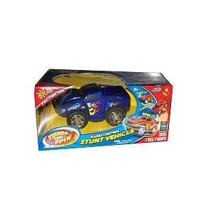 Turbo 5.5 inch Spin Stunt Radio Control Racer   Blue Toys & Games