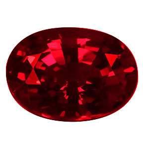 59ct Extraordinary Beautiful AAA Oval Vivid Red Ruby