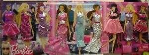 1835 NRFB Mattel Barbie 9 Fashion Evening/Party Dresses Set